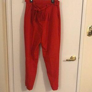 ASOS red peg leg pants